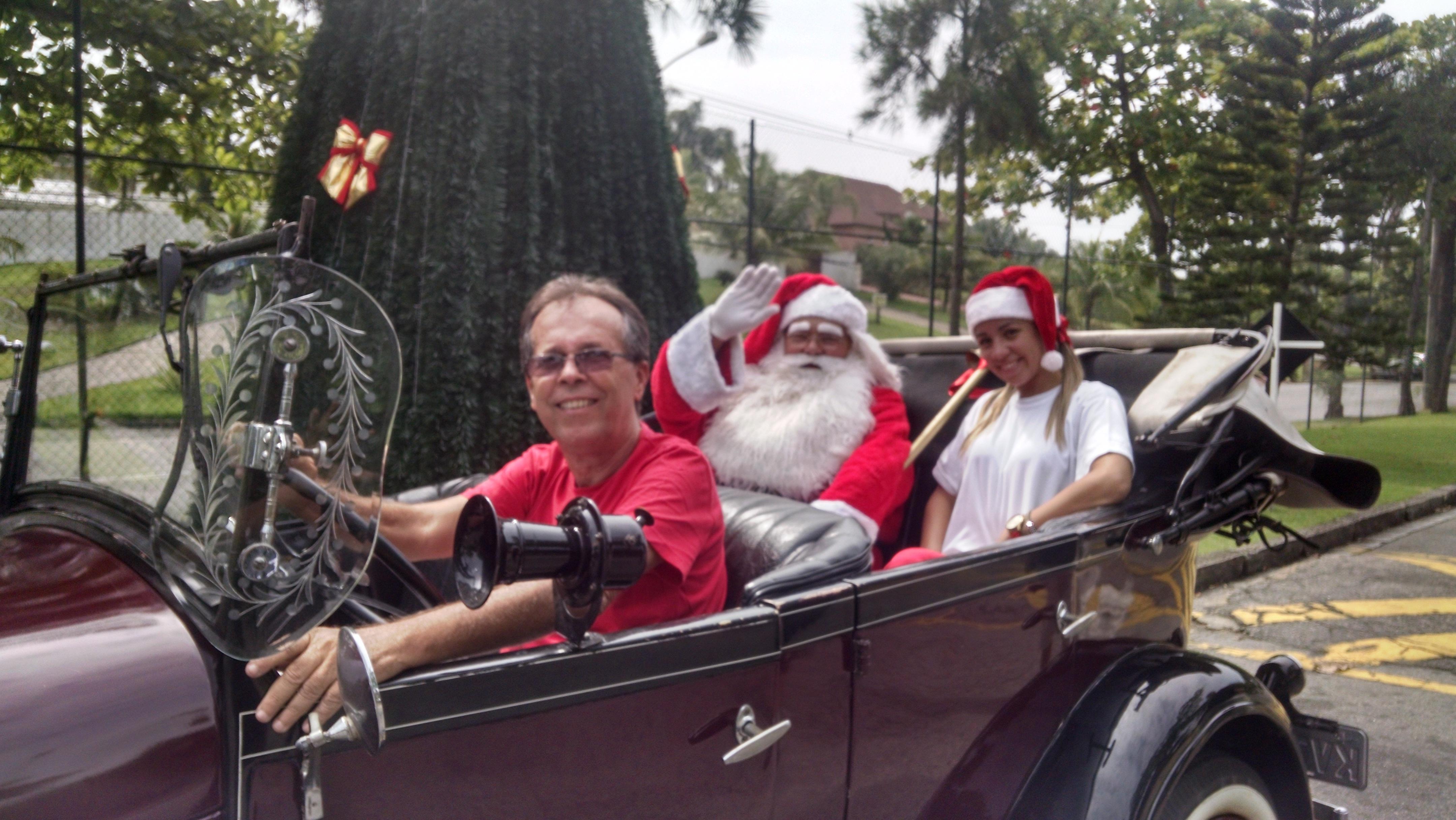 Papai Noel chegou ao Pedra de Itaúna